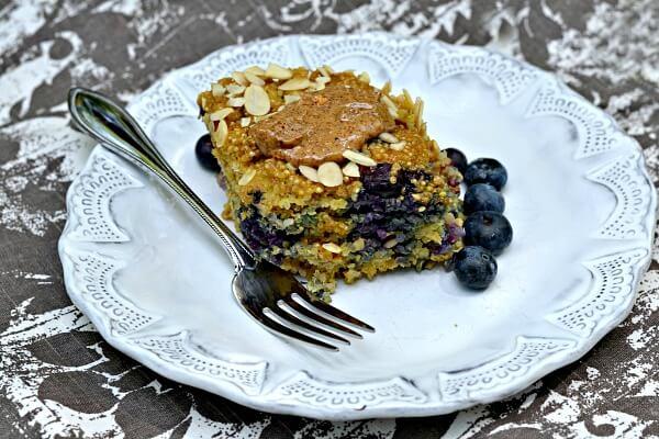Quinoa Breakfast Bake with Almond Butter