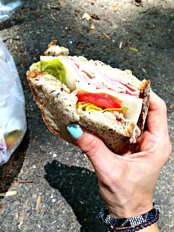 hiking sandwich