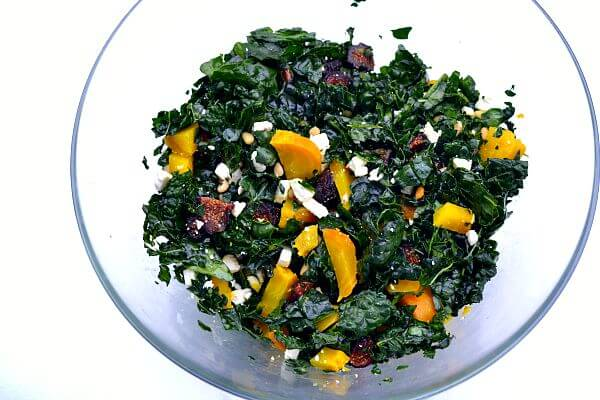 Kale Salad Beets and Bacon