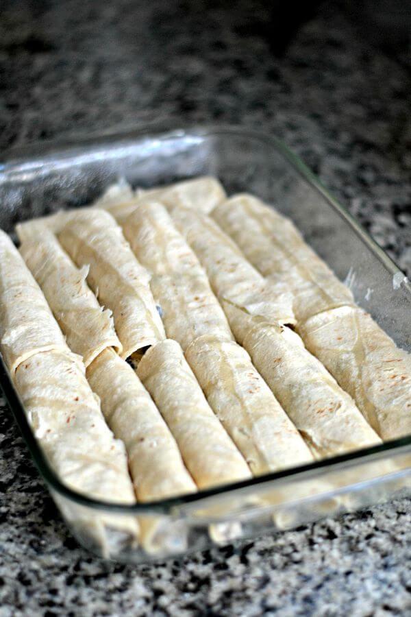 Enchiladas Prepped