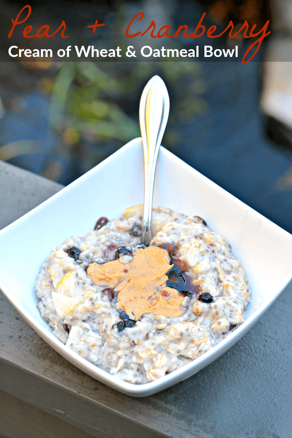 Pear and Cranberry Oatmeal