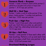 2016 Valentine's Day Partner Workout + My Weekly Workouts
