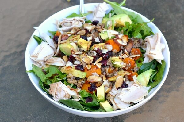 Healthy, easy, gluten-free grain salad.