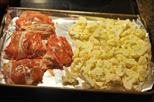 ALDI Prosciutto Chicken Prep
