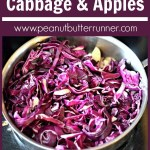 Braised Red Cabbage with Red Onion, Apples and Balsamic