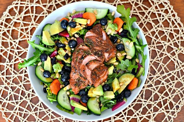 Four healthy and delicious salad ideas that are gluten-free, dairy-free and Whole30 compliant.
