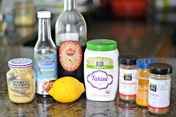 Tahini Turmeric Dressing Ingredients