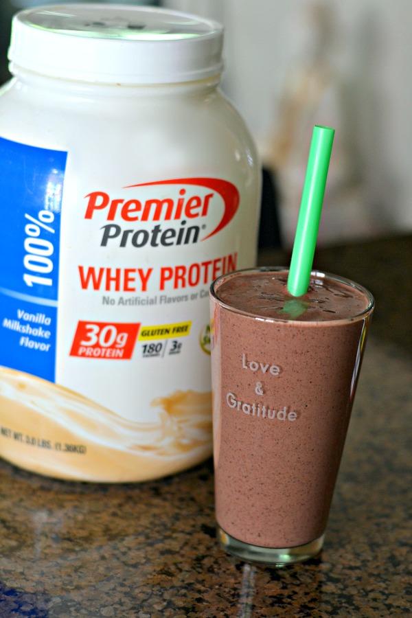 Smoothie and Premier Protein Powder