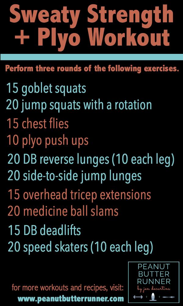 Sweaty Strength + Plyo Workout
