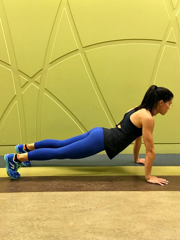 Plank with a low back sag