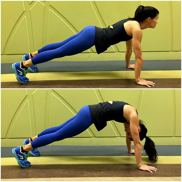 Plank with neck out of alignment with spine