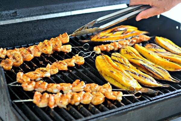 Grilled Shrimp and Plantains