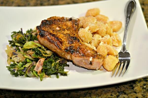 Bone-In Pork Chop with Gnocchi