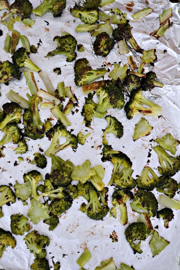Roasted Broccoli: Crowns and Stems