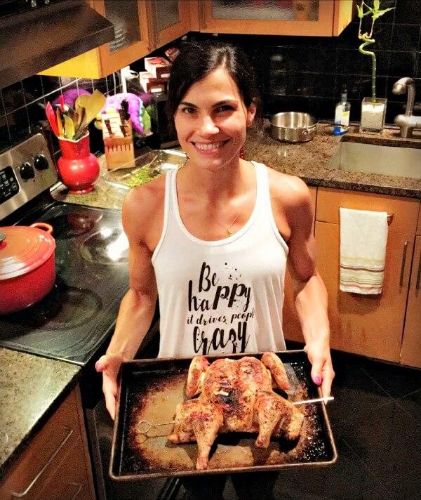 Spachcock Grilled Chicken