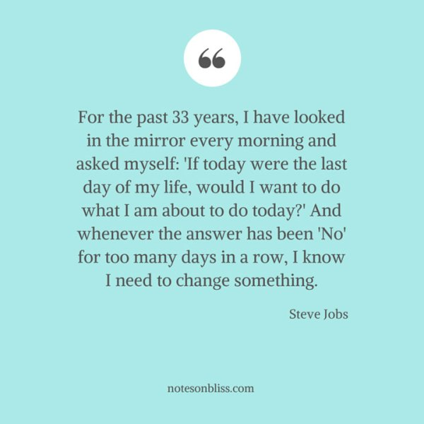 Steve Jobs Mirror Quote