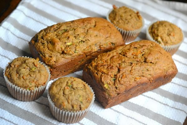 Spiced zucchini carrot and banana bread or muffins spiced zucchini carrot and banana bread or muffins forumfinder Gallery