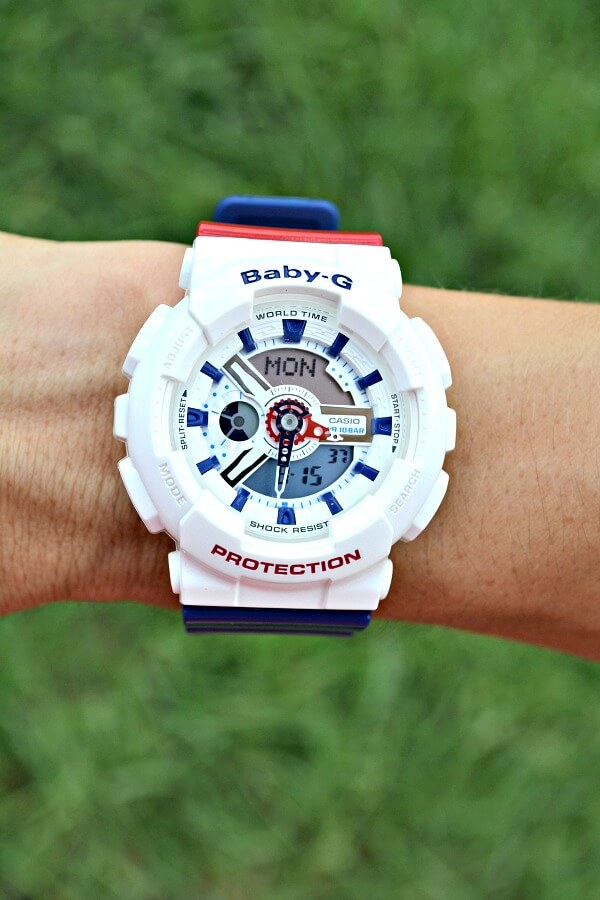 Casio Baby-G Red, White and Blue Watch