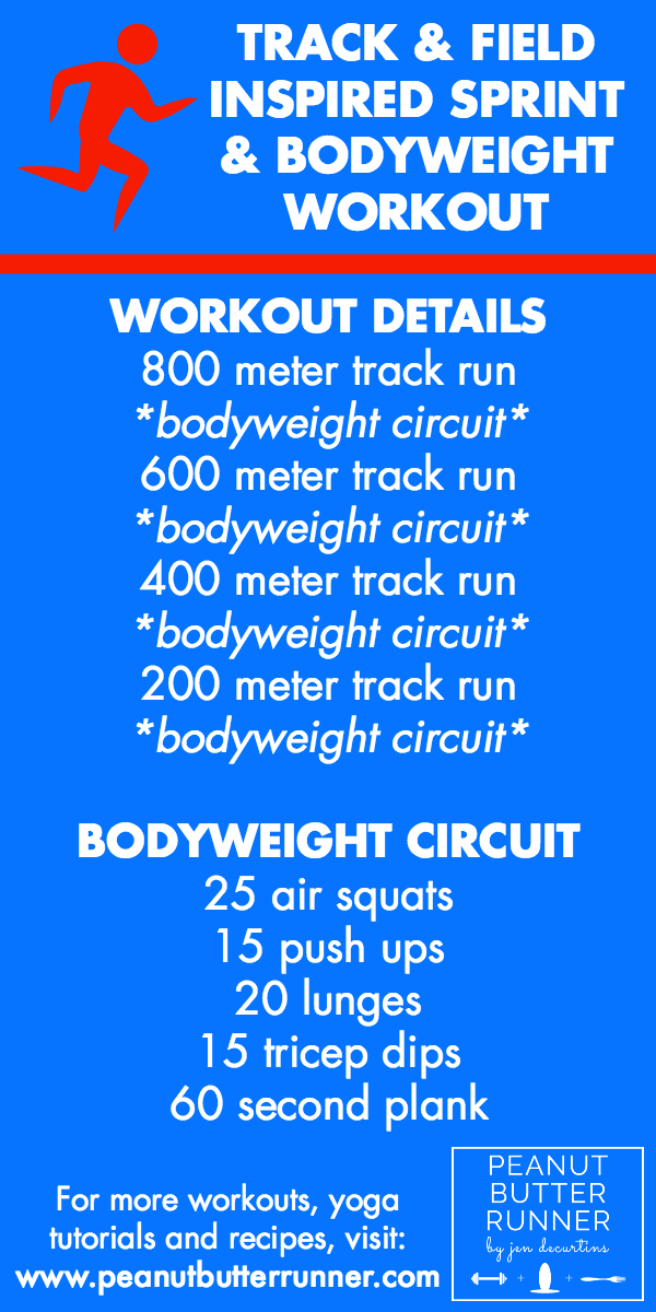Olympic Track & Field Inspired Sprint & Bodyweight Workout