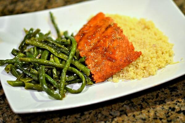 Sriracha Lime Salmon and Chinese Long Beans