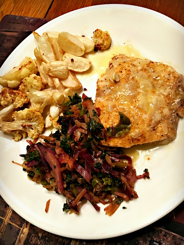 Snapper and roasted vegetables