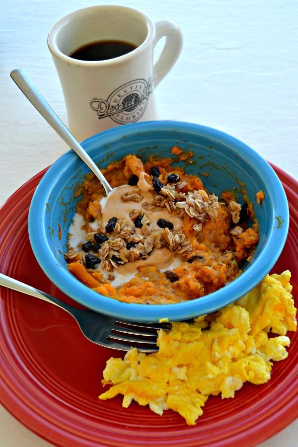Sweet Potato Breakfast Bowls with Scrambled Eggs
