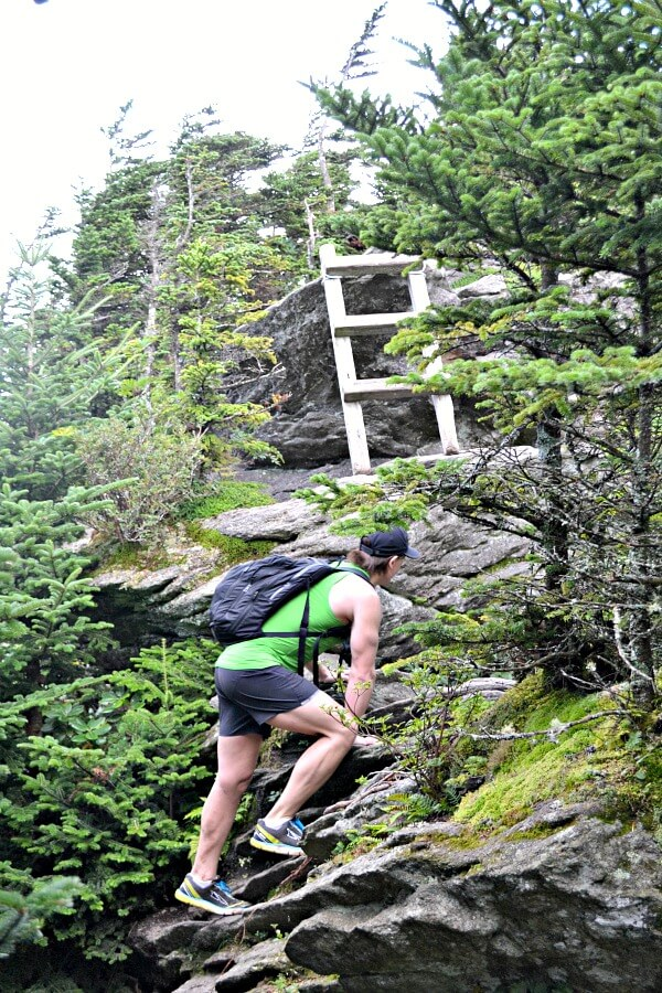 Hiking to Calloway Peak on Grandfather Mountain