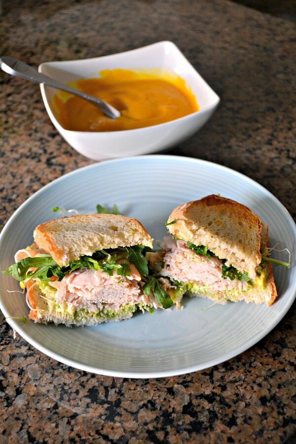Turkey Sandwich and Soup