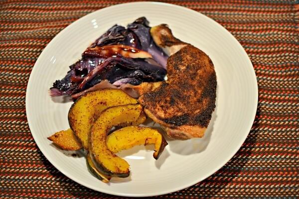 Spiced Chicken One Sheet Dinner