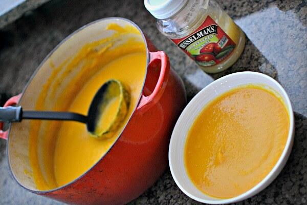 Carrot Apple Butternut Ginger Soup
