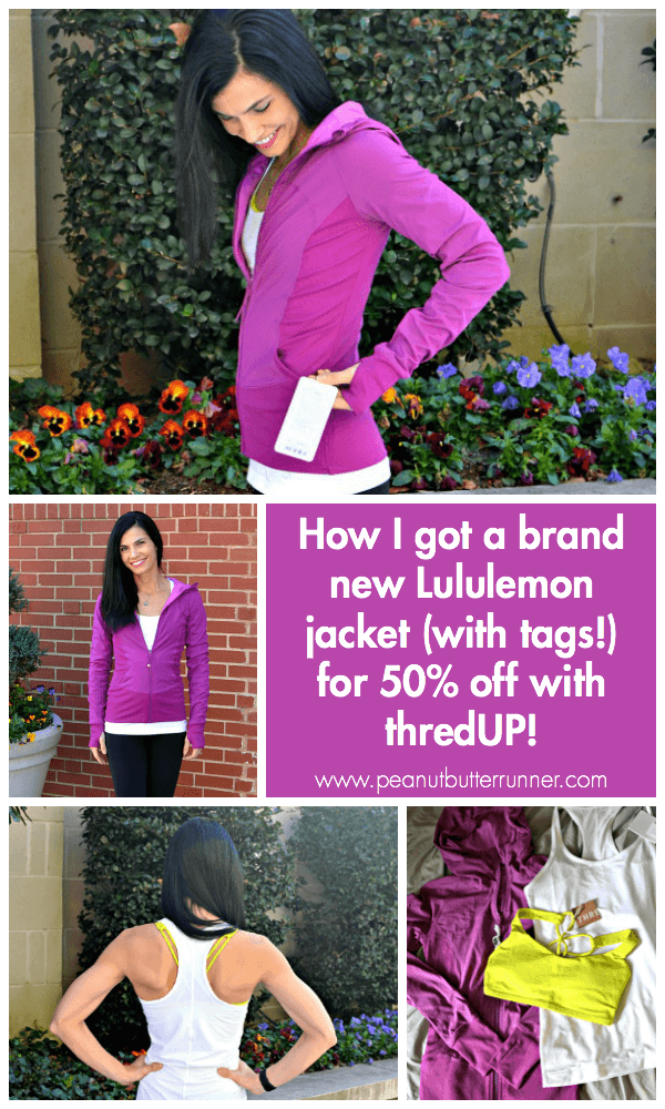 How I got a brand new Lululemon jacket (with tags!) for 50% off with thredUP!