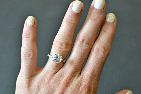 round solitare engagement ring