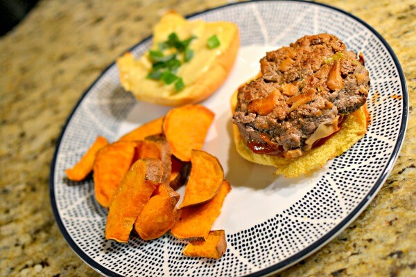 blue apron burger