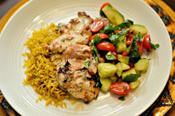 tahini marinated chicken