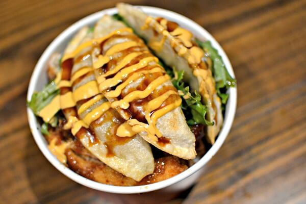 Katsu Rice Bowl combo from Hiya Food Truck