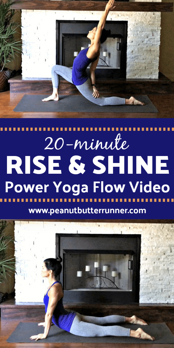 A 20-minute power yoga flow to start your morning off with stretching, twists, backbends and inversions so you feel amazing for the day ahead!