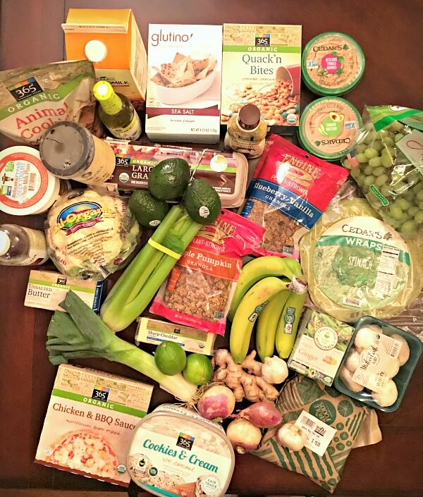 What I bought at Whole Foods at 9 weeks pregnant.