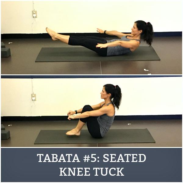 seated knee tuck
