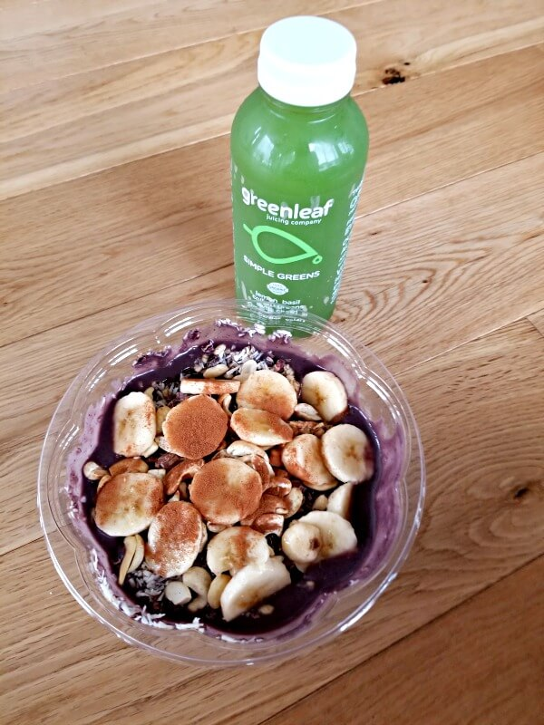 greenleaf juice and acai bowl