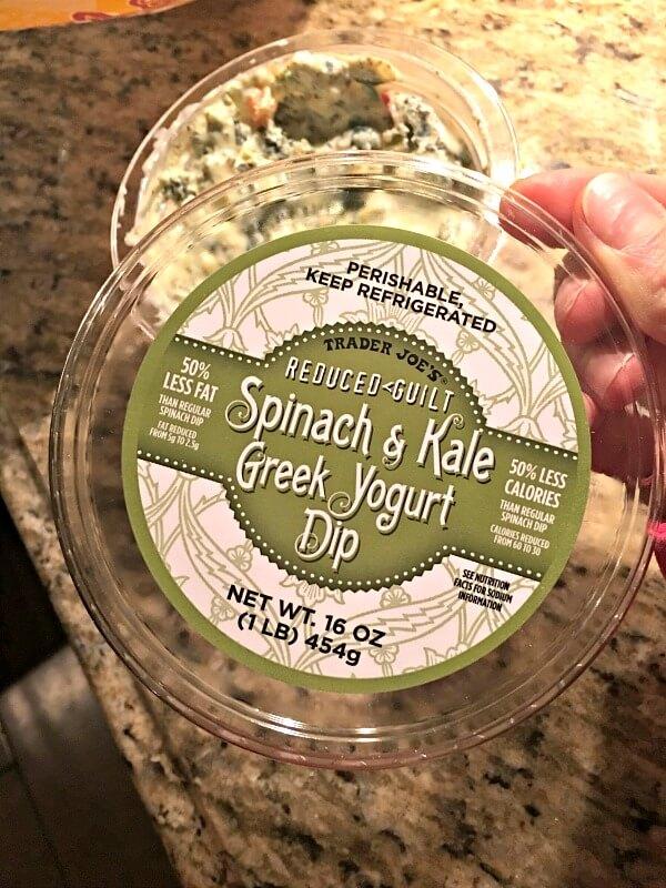 trader joe's spinach and kale greek yogurt dip