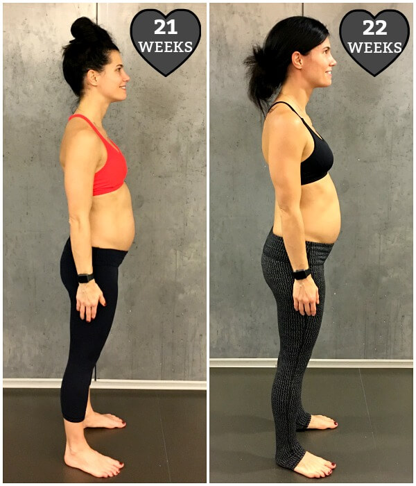 22 weeks pregnant weight gain chart