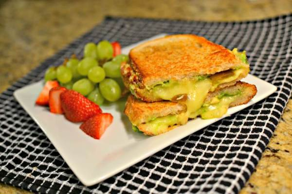 grilled cheese with pepperjack, fig preserves and avocado