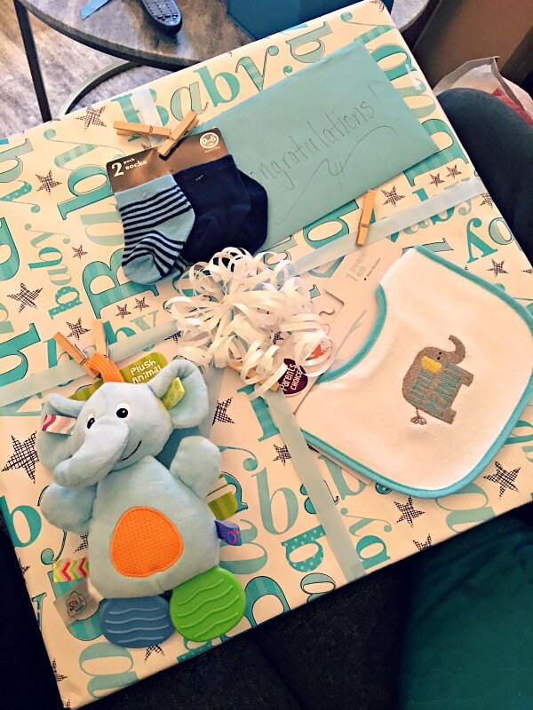 baby boy shower wrapping