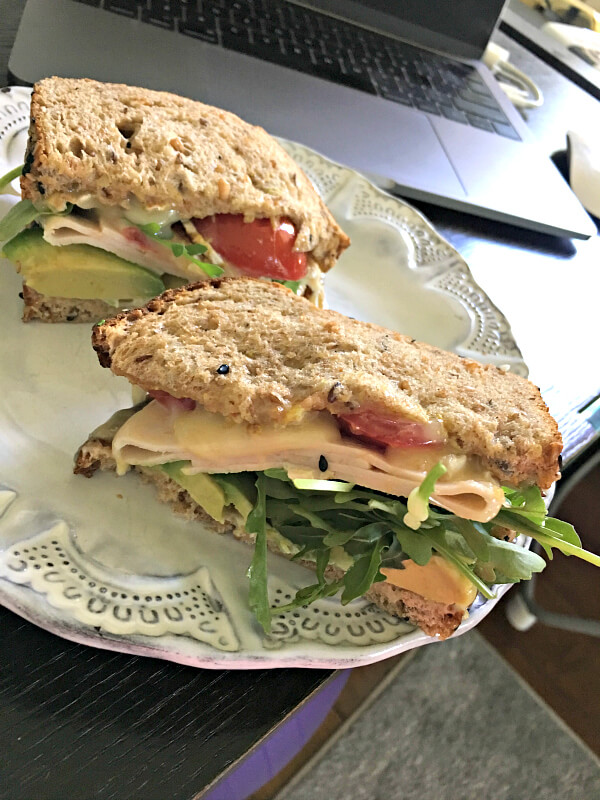 turkey, brie and avocado sandwich