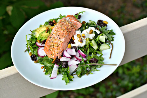 baby kale salmon salad