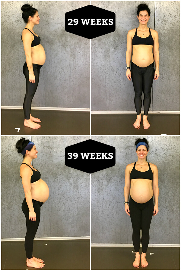 third trimester body changes