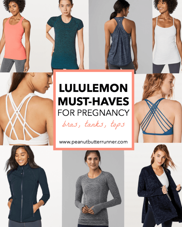 My Lululemon Must-Haves for Pregnancy: Bras, Tanks, Tops