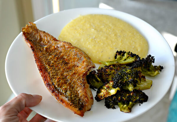 pan sauteed snapper with polenta