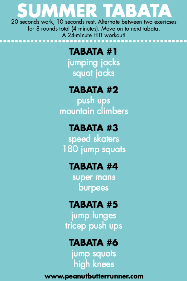 Summer Tabata Workout - Peanut Butter Runner