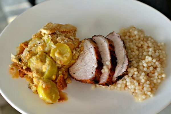 pork loin with squash casserole